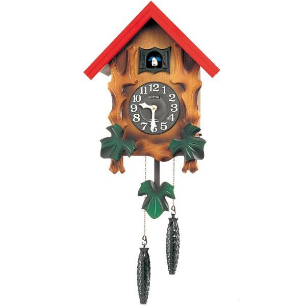 【RHYTHM】リズム工業 鳩時計 カッコーメルビルR 掛時計 4MJ775RH06