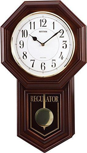 【RHYTHM】リズム工業 振子時計 ベングラーR 掛時計 4MJA03RH06