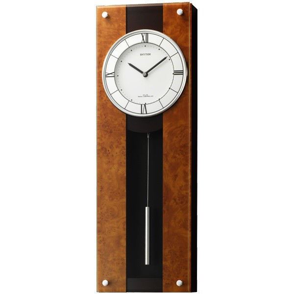 【RHYTHM】リズム工業 振子時計 モダンライフM01 掛時計 4MXA01RH06