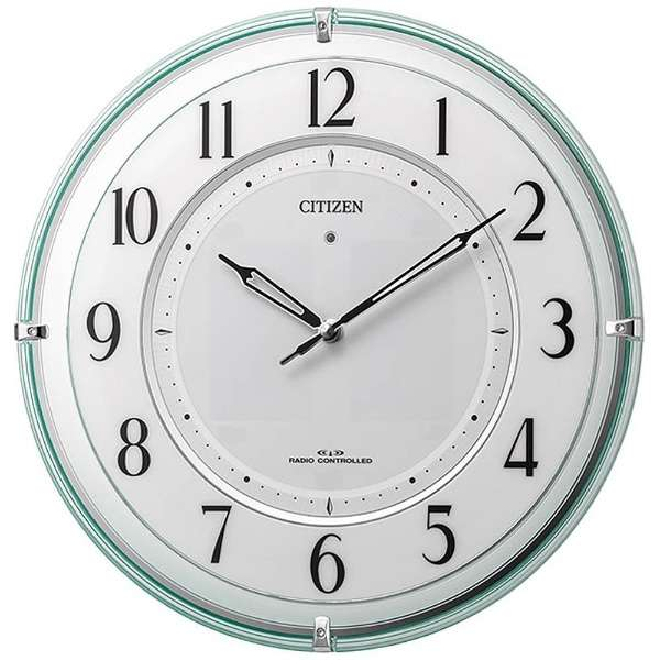 【RHYTHM】リズム時計 電波時計 アナログ ソーラー 掛け時計 4MY851-005
