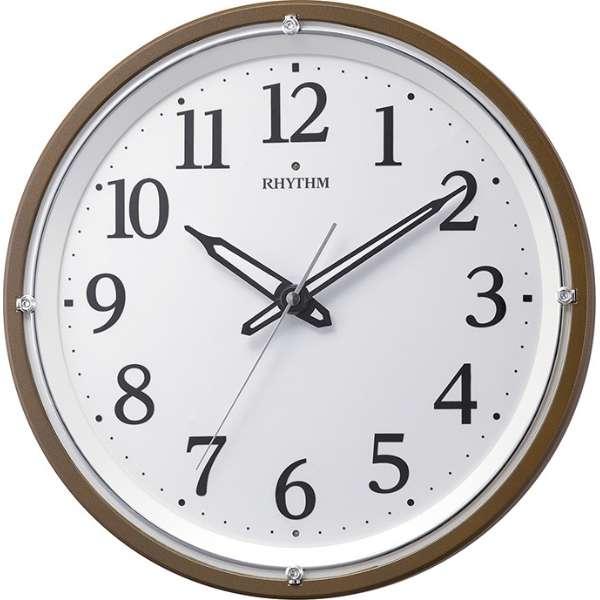 【RHYTHM】リズム時計 リバライト532 電波時計 アナログ 電池式 掛け時計 8MY532SR06