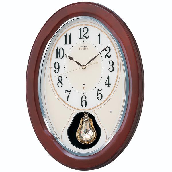 【セイコークロック EMBLEM】セイコークロック エンブレム 電波掛け時計 アナログ HS445B