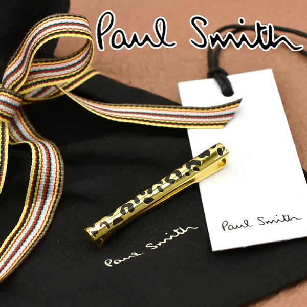 【ネコポス送料無料】【PAUL SMITH】ポールスミス ネクタイピン ヒョウ柄 ゴールド×ブラック M1A-TPIN-AASKIN83