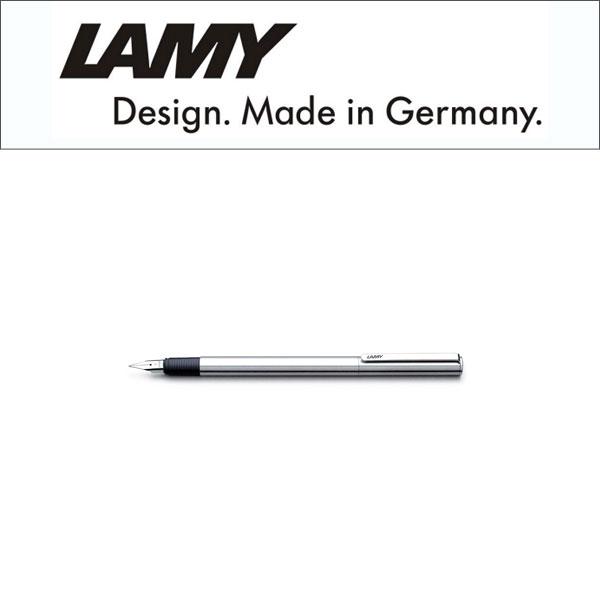 【LAMY】ラミー st エスティ 万年筆 両用式 ペン先EF~B ステンレス シルバー L45 【メール便可能】【メール便の場合商品ボックス付属なし】