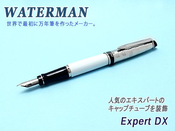【WATERMAN】ウォーターマン EXPERT エキスパート デラックス 万年筆 ステンレスペン先 ペン先F~M ホワイトCT WM-EXPRTDX-FP-WHC 【メール便可能】【メール便の場合商品ボックス付属なし】