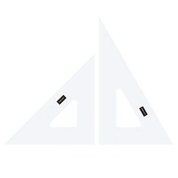 ネコポス メール 100%品質保証! 上等 便可能 三角定規 目盛りなし ウチダ 製図用三角定規※ネコポス便可能 1-809-1820 18cm型