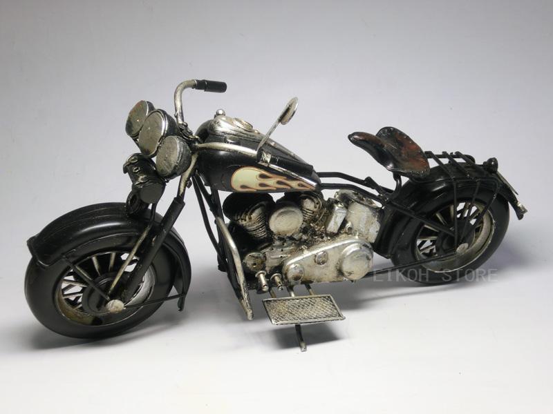 Antique American Bikes Black Tin Toys USA Motorcycles Motorcycle Harley Type Davidson Model