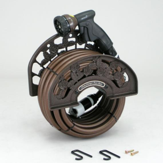 ピュアローズ ブラウン 三洋化成 ホースハンガー 英国ガーデン風デザインの本格派 アルミ鋳物製