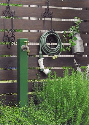 立水栓ユニット コロル お庭のワンポイントにシンプルな立水栓 全13色からお選びいただけます ※メーカー出荷の為商品代金引換不可