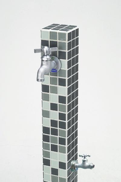 立水栓ユニット モゼック グレーミックス(GM)補助蛇口仕様 カジュアルモダンな雰囲気が漂います※メーカー出荷の為商品代金引換不可