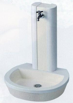 立水栓ユニット フォレット(地中・補助蛇口) ホワイト 立水栓ユニット ※送料無料 代引交換不可※