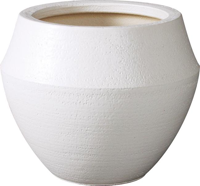 バレル 8号用 植木鉢 ホワイト 信楽焼・プラスガーデン