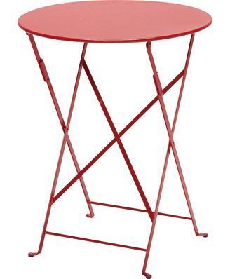 ビストロテーブル60/67R カラー:レッド ガーデンファニチャー フェルモブ Bistro ビストロ