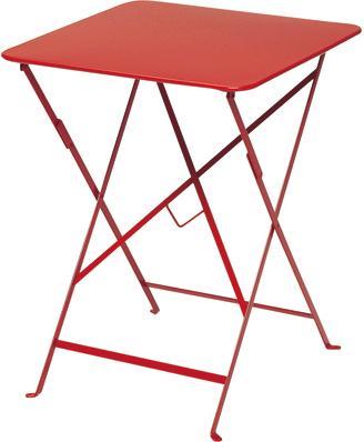 ビストロテーブル57角 カラー:レッド ガーデンファニチャー フェルモブ Bistro ビストロ