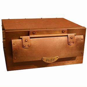 PA-3 ボックス付 トラディショナルな郵便ポスト 銅製ポスト