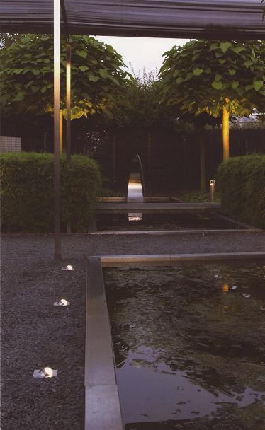 床面埋込ライト LED1W Fish Eye 100×100(WW) アンバー ガーデンライト インライト