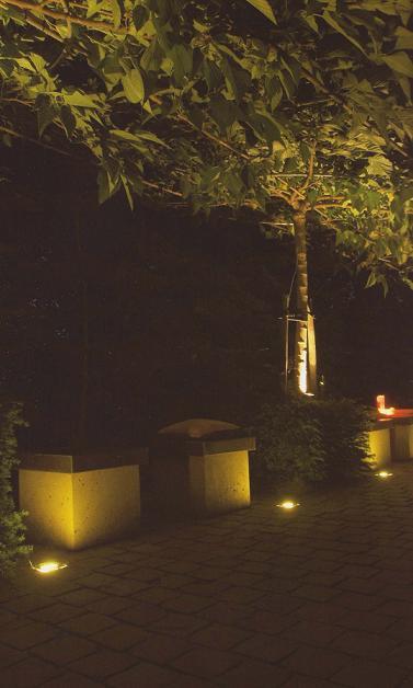 床面埋込ライト LED2W FLH-LED008(WW) アンバー ガーデンライト インライト