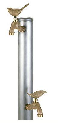 立水栓・水栓・蛇口シリーズ ヘアライン2口