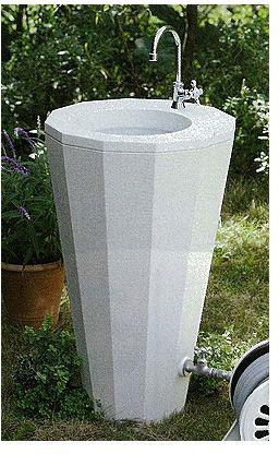 立水栓・水栓・蛇口シリーズ 立水栓ユニット リアルウッドスタンドタイプ ホワイト ※代引交換不可※