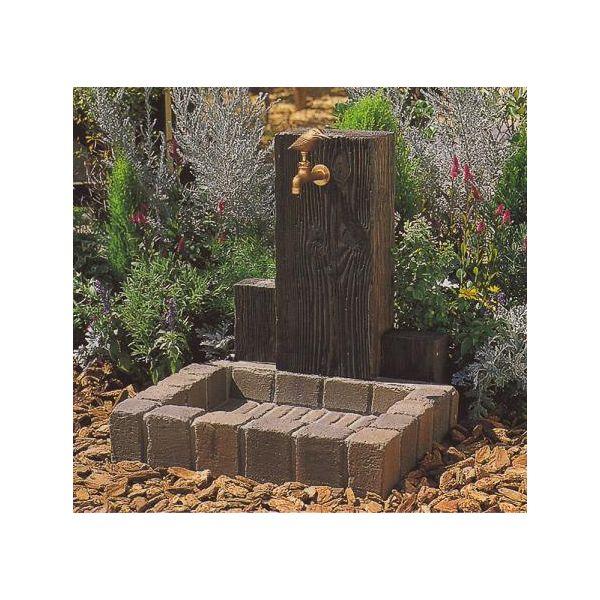 立水栓ユニット ウッドクリートB 補助蛇口なし ブラウン