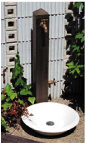 立水栓ユニット モ・エットL ブラウン ※代引交換不可※