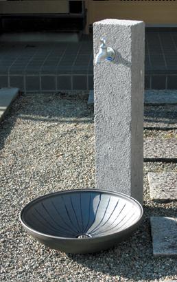 立水栓ユニット 芦野石 タイプ:ANS-2 ※代引交換不可※
