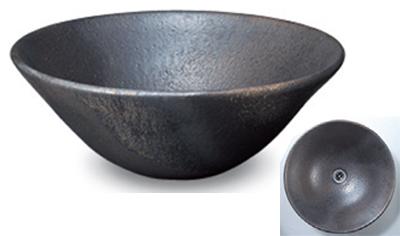 立水栓・水栓・蛇口シリーズ 信楽焼 金彩手洗鉢