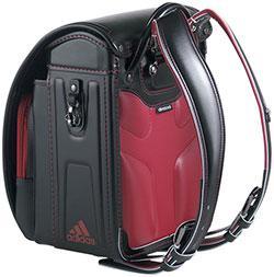 最新モデル 6年間保証 正規品、新品、人気スポーツブランド、即納ランドセル 男の子 アディダス eキューブタイプ|35617-10:ランドセル ブラック(レッド)