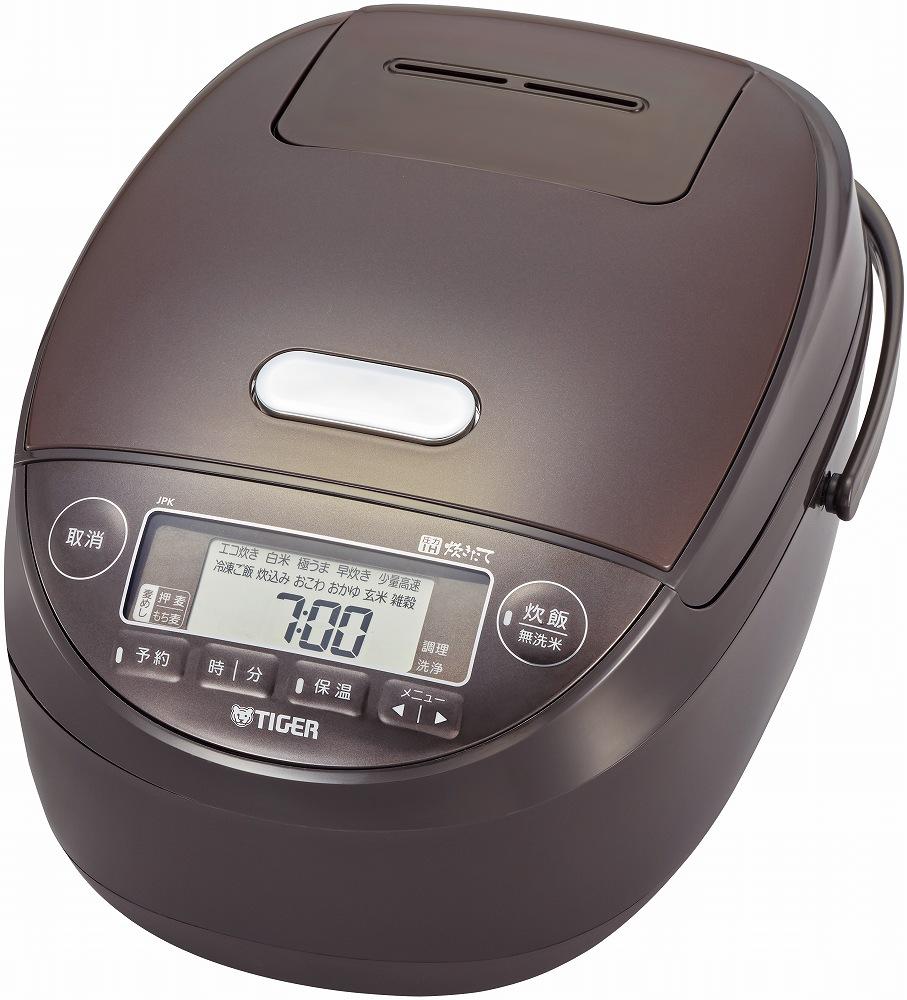タイガー 圧力IH炊飯ジャー 一升炊き JPK-B180 T(ブラウン)|5層 遠赤釜 土鍋コーティング