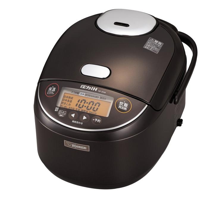 【エントリーでポイント5倍! 11/1 0:00 - 12/1 9:59まで】炊飯器 象印 1升炊き 圧力IH炊飯ジャー 極め炊き NP-ZG18 TD(ダークブラウン) 10合 【送料無料】|4974305215550:最寄家電