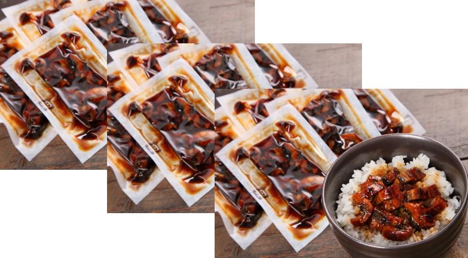 鰻楽 九州産 うなぎ蒲焼 (きざみ ) 5袋×3セット | うなぎ 鰻 ウナギ ギフト冷凍 お中元 国産 蒲焼き タレ たれ 父の日 ひつまぶし うな重 うな丼 土用 丑の日 夏バテ 九州 まんらく 送料無料