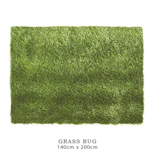 【送料無料】GRASS RUG 芝生モチーフ ラグ マット (140cm×200cm) グラスラグ スクエア