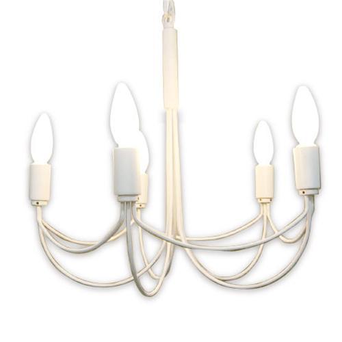 【送料無料】 Arco Small シャンデリア (アルコスモール) ペンダントランプ ≪ホワイト≫ シャンデリア (5灯ランプ・直径46cm) デザイナーズ 照明 / 天井 照明