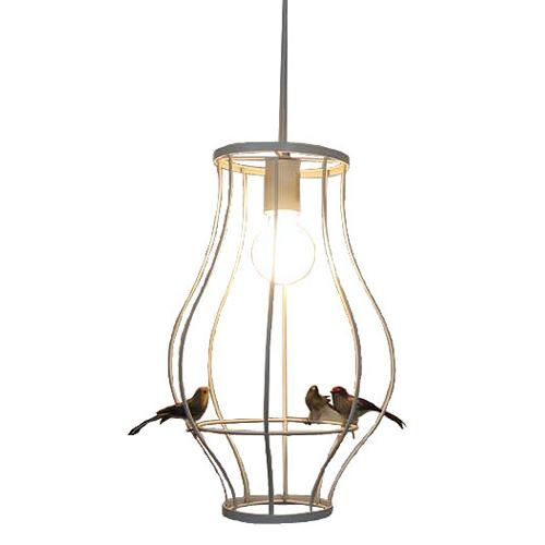 【送料無料】Cesto (チェスト) ペンダントランプ 3羽の小鳥付き /デザイナーズ照明