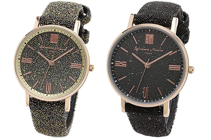 Salvatore Marra サルバトーレマーラ 腕時計 レディース スワロフスキー 替えベルト付き パヴェ
