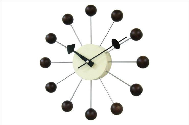 Grorge Nelson ジョージ・ネルソン 掛け時計 壁掛時計 ネルソンクロック ボールクロック ウォルナット【02P11Apr15】