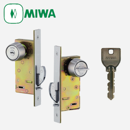 MIWA(美和ロック) FN-1 引戸錠 キー3本付属 鍵 交換 取替え【U9シリンダー仕様/標準サムターン】【引戸 引違戸】