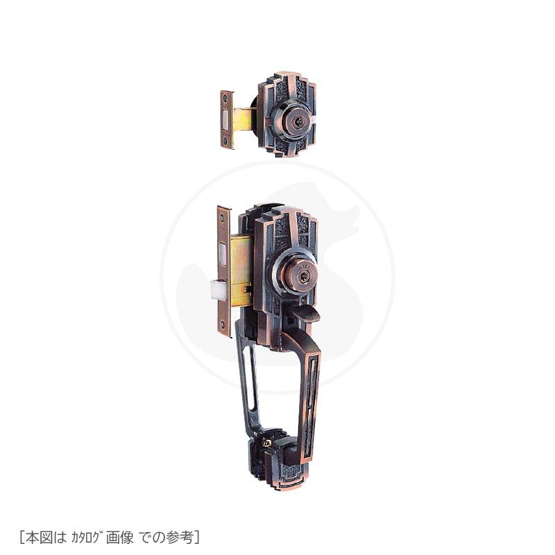 [2ロック] YKK サムラッチハンドル錠 M-63 BS60mm MIWA TESP + THMSP U9キー3本付【左右勝手兼用】【YKKap 装飾錠】【M63(旧M-50)】【美和ロック カエデ THM】【送料無料】