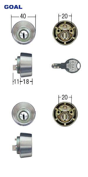DEBZ0022 ファッション通販 TOSTEM GCY112 ツーロック 鍵 カギ 交換 部品 在庫あり DIY トステム GOAL D9シリンダー -QDC899 ディンプルキー SG ベルエア シルバー色 デュオPG セリード GCY-112 QDC899-QDC900 SPJ648 キー5本付 2個同一キー