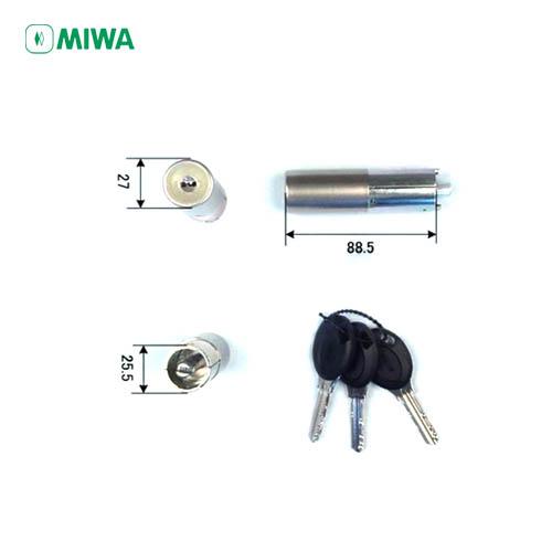 MIWA PRシリンダー HPL-40用 キー3本付 扉厚33~36mm向け【美和ロック HPL40BF】【ディンプルキー】【防犯対策】【送料無料】