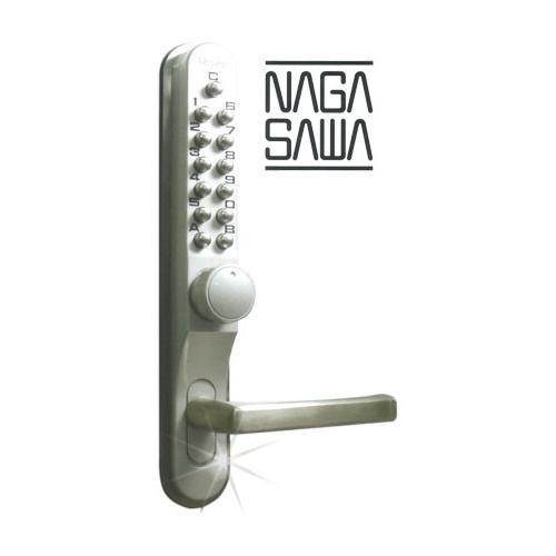 キーレックス Mr-1 暗証番号錠 片面ボタン式 MIWA LA用シリンダー取替え錠 対応扉厚36mm~44mm【長沢製作所 KEYLEX 700シリーズ B2タイプ】【本体シリンダー無し】【送料無料】
