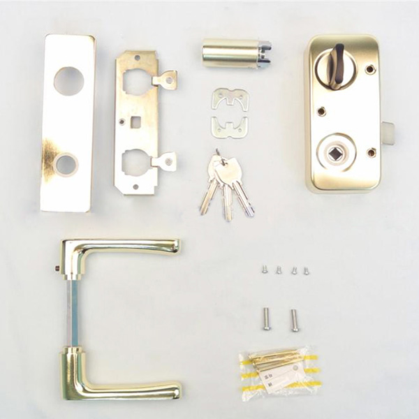 GD 色MIWA U9 RAHPC (ゴールド) レバーハンドル錠セット