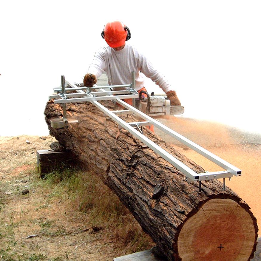 丸太の製材の際のレールとして グランバーグ EZレール(1.5M)