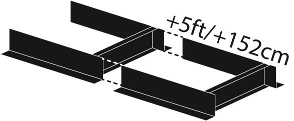 トラックシステムの延長トラック(長さ152cm) ポーターミル アクセサリ お持ちのチェンソーを取り付けて 丸太 製材 丸太の製材 梯子 丸太 ベッド チェーンソー
