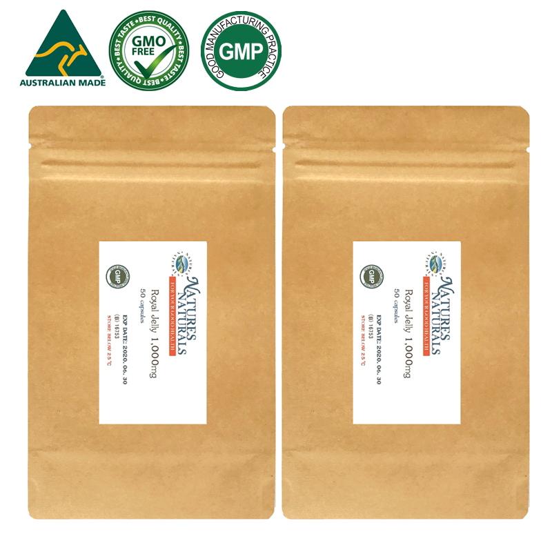 ローヤルゼリー 1,000mg 10ヒドロキシ-2-デセン酸11mg GMP認定 サプリメント 約100日分 50粒×2袋セット アミノ酸が豊富