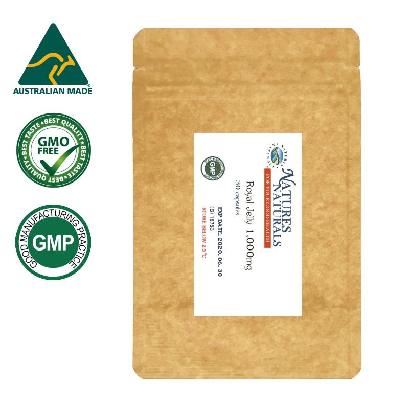 ミツバチからの贈り物ローヤルゼリー ローヤルゼリー 人気ブランド ロイヤルゼリー 1 000mg 新作 10ヒドロキシ-2-デセン酸11mg 30粒 約30日分 アミノ酸が豊富 GMP認定 袋入り サプリメント