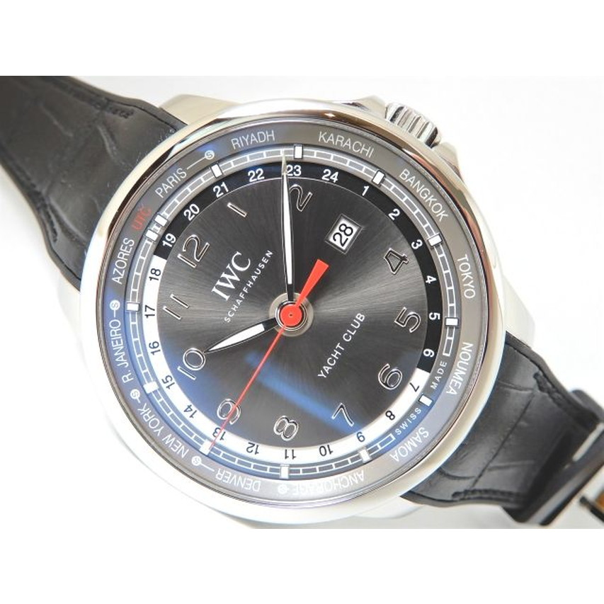 lowest price b604b da967 IWC (the eye W sea) ポルトギーゼ yacht club world timer limited IW326602