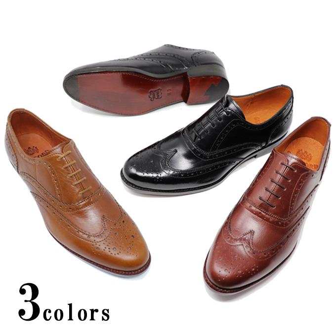 本革 メンズ ウィングチップ フルブローグ ハンドソーンウェルテッド製法 革靴 革底 レザーソール ダブルソール ブラック 黒 レッドブラウン ブラウンビジネスシューズ グッドイヤー グッドイヤーウェルト製法 ハンドメイド 小さいサイズ 大きいサイズ
