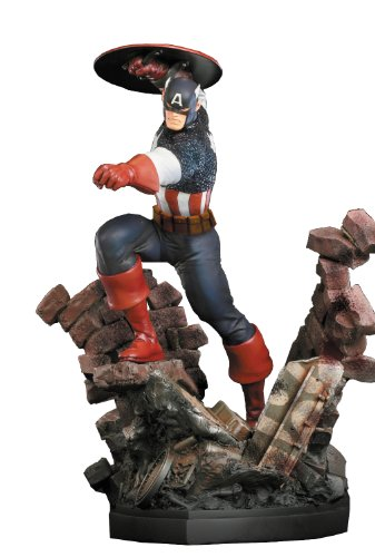 Bowen デザイン キャプテン アメリカ Captain America ペイント Statue (Action Version) (海外取寄せ品)