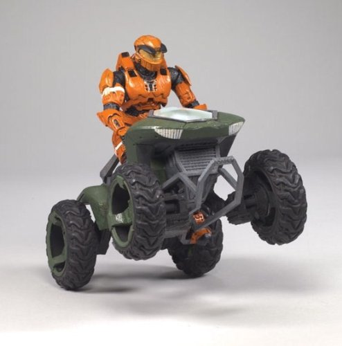 McFarlane Toys Halo Deluxe ボックス セット - Mongoose Vehicle with スパルタの ソルジャー マーク V オレンジ (海外取寄せ品)